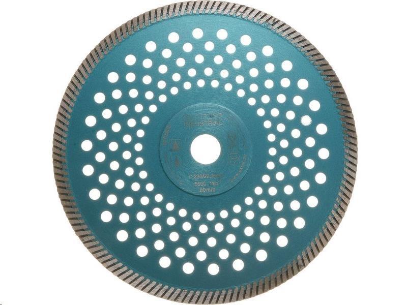 Extol Industrial (8703055) kotouč diamantový řezný turbo Fast Cut, 230x22,2mm, suché i mokré řezání
