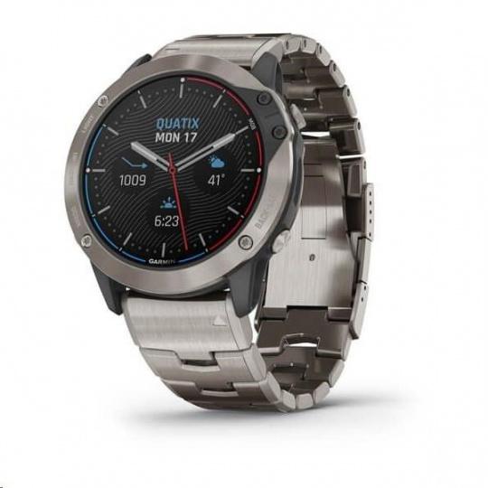 Garmin GPS jachtařské hodinky Quatix6X PRO Solar Titanium/Titanium Band