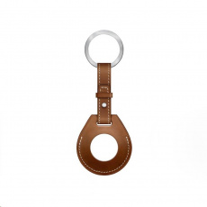 COTEetCI kožené pouzdro na klíče H-series pro Apple AirTag, hnědá
