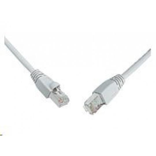 Solarix Patch kabel CAT5E SFTP PVC 1m šedý snag-proof C5E-315GY-1MB