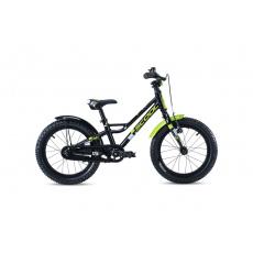 S'COOL  Detský bicykel faXe 18 čierno/zelený (od 110 cm)