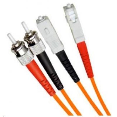 Duplexní patch kabel MM 50/125, OM2, ST-SC, LS0H, 3m