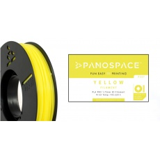 FILAMENT Panospace type: PLA -- 1,75mm, 326 gram per roll - Žlutá