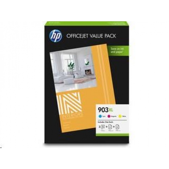 HP 912 CMY Ink and A4 Paper OVP Pack