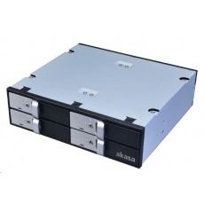 """AKASA HDD box Lokstor M22, 4x 2.5"""" SATA HDD/SSD do 5.25"""" interní pozice, černá"""