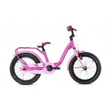 S'COOL  Detský bicykel niXe alloy 16 ružový/bledoružový (od 107 cm)