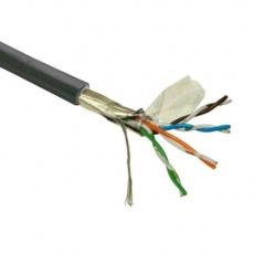 FTP kabel LYNX Cat5E, drát, venkovní PE, černý, 305m - poškozený obal