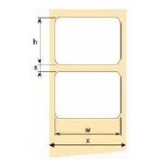OEM samolepiace etikety 50mm x 12mm, biely papier, cena za 2500 ks