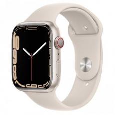 Apple Watch Series 7 Cell, 45mm Starlight/Starlight SportBand