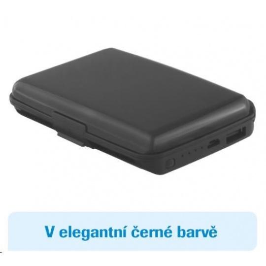 Card Guard Power Wallet (černý) - Bezpečnostní peněženka a powerbanka v jednom