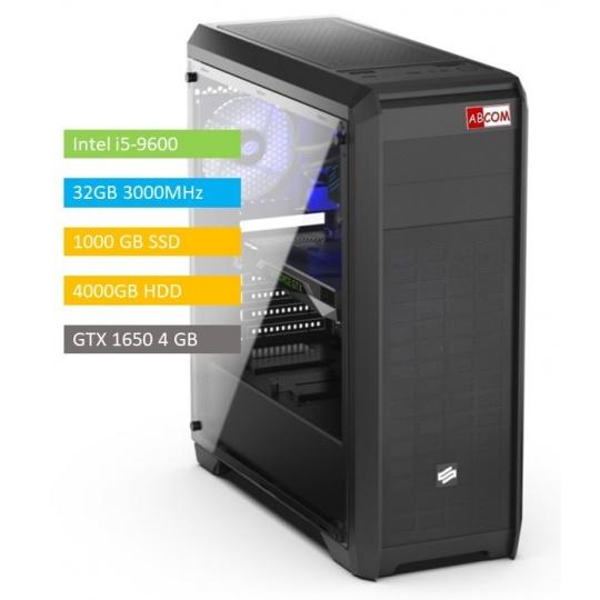 ABCOM MI7070 i5-9600, 32 GB RAM, 1 TB SSD + 4TB, GTX1650 4GB