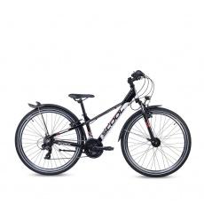 S'COOL  Detský bicykel troX EVO 21s čierny/šedý/červený