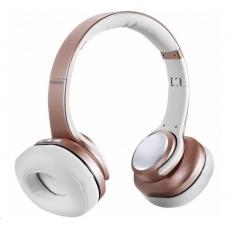EVOLVEO bezdrátová sluchátka SupremeSound 8EQ, Bluetooth, reproduktor a ekvalizér 2v1, růžová