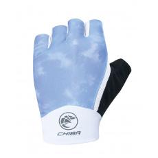 Chiba Cyklistické rukavice pre ženy Lady Tie Dye svetlomodré
