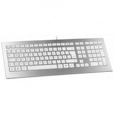 CHERRY klávesnice STRAIT/ drátová/ USB/ bílostříbrná/ CZ+SK layout