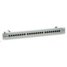 Intellinet Patch panel 24 port Cat6, tienený STP, šedý