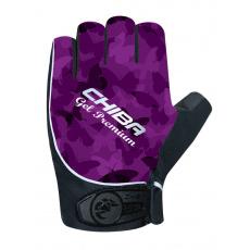 Chiba Cyklistické rukavice pre ženy Lady Gel Premium fialové