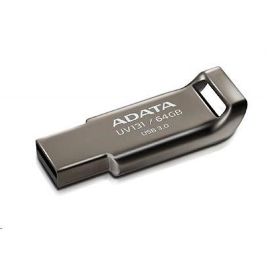 ADATA Flash Disk 64GB UV131, USB 3.1 DashDrive, Chromium Grey, šedá