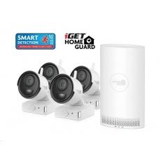 iGET HOMEGUARD HGNVK68004 Bezdrátový bateriový WiFi Full HD systém (6-kanálový Full HD NVR) + 4x Full HD venkovní kamera