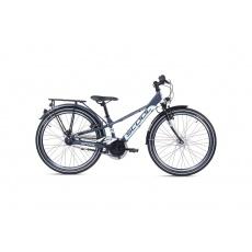 S'COOL  Detský bicykel troX EVO 7s anthracitový/tyrkysový