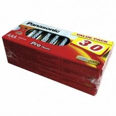 PANASONIC Alkalické baterie Pro Power LR03PPG/30BB MTO  AAA 1,5V (Blistr 30ks)