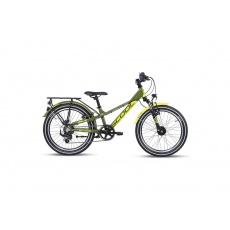 S'COOL  Detský bicykel troX EVO 7s zelený/žltý