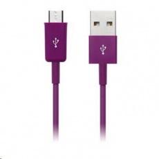 CONNECT IT Kabel Colorz microUSB - USB, 1m, fialový