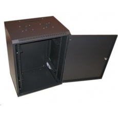 """XtendLan 19"""" jednodílný nástěnný rozvaděč 22U, šířka 600mm,hloubka 450mm, plné dveře,úprava proti vykradení,nosnost 60kg"""
