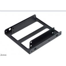 """AKASA montážní kit  pro 2,5"""" HDD do 3,5"""" pozice, 2x 2,5"""" HDD/SSD, 2ks v balení, černá"""