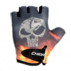 Chiba Cyklistické rukavice pre deti Cool Kids Lebka