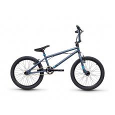 S'COOL  XtriX 20 Detský bicykel šedý/matný modrý(od 122 cm)