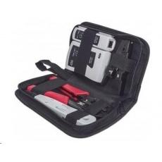 Intellinet 4-Piece Network Tool Kit, sada náradie: cable tester, krimpovacie kliešte, LSA narážací nástroj, stripovač