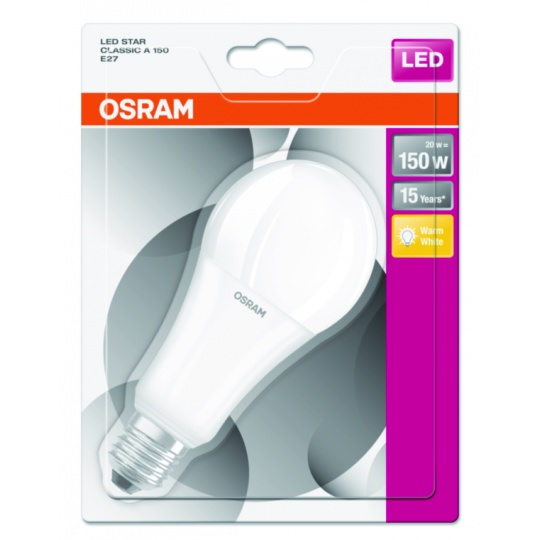OSRAM LED STAR CL A Fros. 20W 827 E27 2452lm 2700K (CRI 80) 15000h A+ (Blistr 1ks)