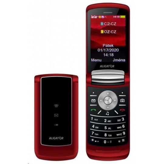 Aligator DV800 Dual SIM, senior červený