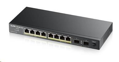 Zyxel GS1100-10HP 10-port Desktop Gigabit Ethernet PoE Switch, 8x gigabit PoE RJ45, 2x SFP, 130W Poe budget