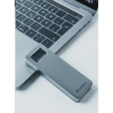 VERBATIM externí SSD 1TB, Executive Fingerprint Secure SSD, USB 3.2 Gen 1/USB-C, (W:356 MB/s, R:344 MB/s), šedá
