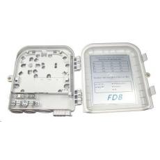 Optický plastový rozvaděč pro 8 odboček, 2 kabelové porty, vodotěsný, cívka