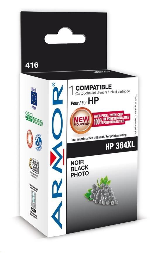 ARMOR cartridge pro HP Photosmart B8550 photoblack,12ml, No. 364XL (CB322EE)