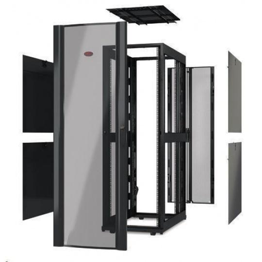 APC NetShelter SX 48U 600mm Wide x 1200mm Deep Enclosure Without Sides, Black