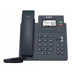 "Yealink SIP-T31G IP telefon, 2,3"" 132x64 grafický, 2x RJ45 10/100/1000, PoE, 2x SIP, s adaptérem"
