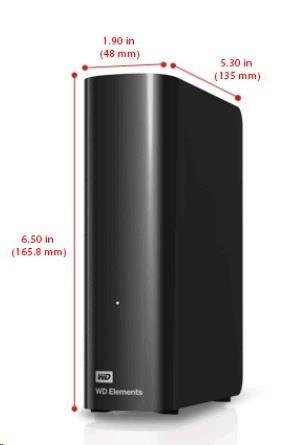 "WD Elements Desktop 3TB Ext. 3.5"" USB3.0, Black"