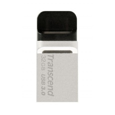 TRANSCEND Flash Disk 32GB JetFlash®880S, USB 3.0/micro USB (R:90/W:20 MB/s) stříbrná