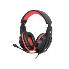 TRACER herní sluchátka s mikrofonem BATTLE HEROES Expert RED, černo-červená, drátové