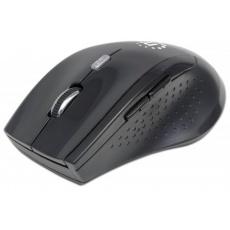 MANHATTAN Myš Curve, USB, optická, bezdrátová, 5-tlačítková, 1600 dpi, černá