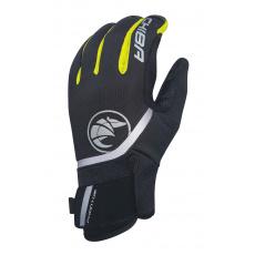 Chiba Zimné cyklistické rukavice pre dospelých Phantom čierna/neónovožltá