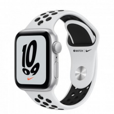 APPLE Watch Nike SE GPS, 40mm Silver Alum. Case with Pure Platinum/Black Nike Sport Band - Regular
