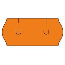 cenovkové etikety 26x12 UNI - oranžové (pre etiketovacie kliešte) 1.500 ks/rol.