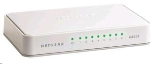Netgear GS208 Gigabit Switch 8 portů