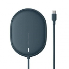 Baseus Light magnetická bezdrátová nabíječka + Type-C kabel 1.5m (kompatibilní s iPhone 12) modrá