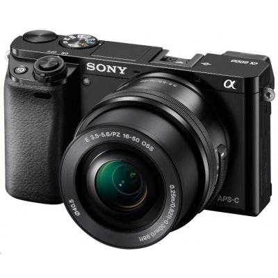 SONY Alfa6000 fotoaparát, 24.3MPix + 16-50mm - černý